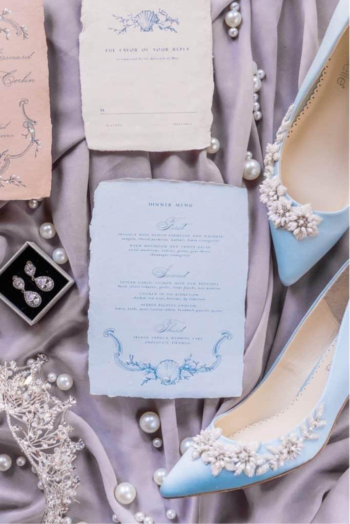 coastal inspired elegant wedding day details