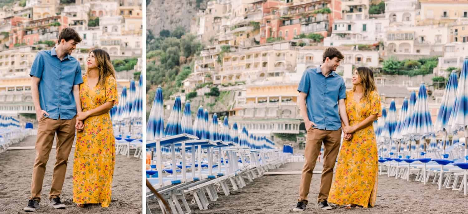 young couple on honeymoon on Italy's Amalfi Coast