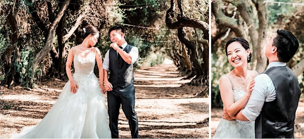 First look at small LA ranch wedding