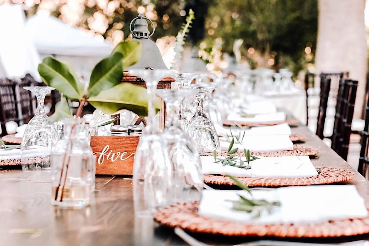 Wedding details at LA ranch wedding
