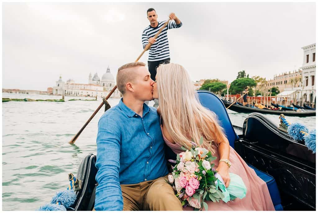 Venice Gondala Ride - California Elopement Photographer - Venice Elopement